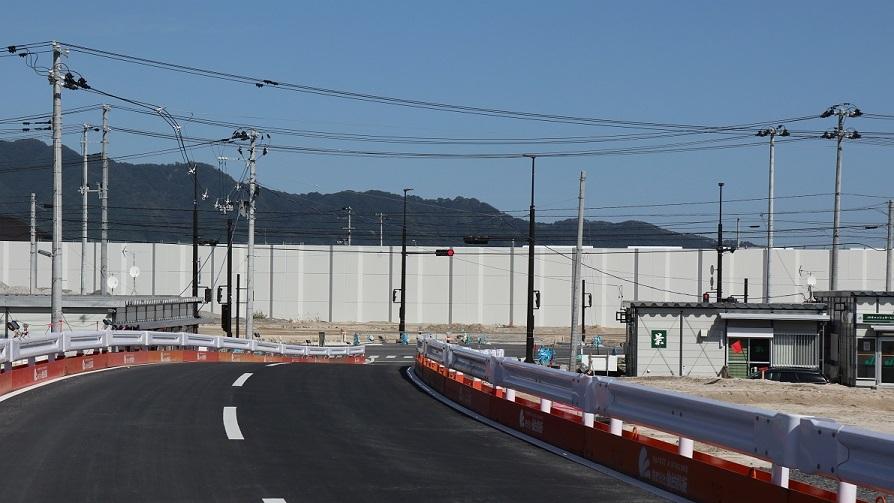 山田駅付近防潮堤