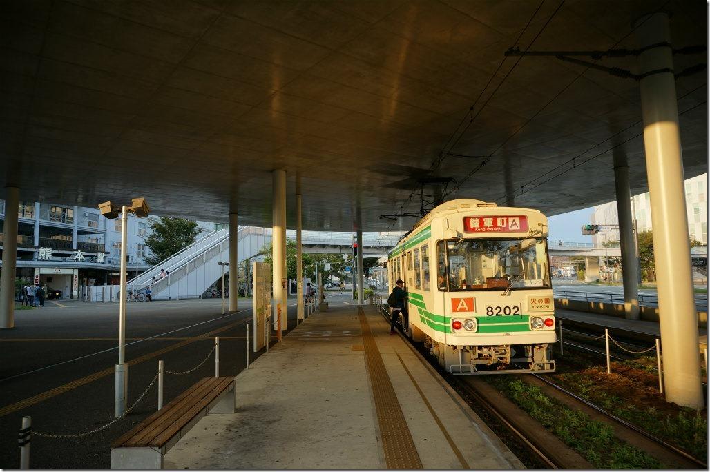 熊本駅 熊本電鉄 熊本市電 熊本城 復興 ライトアップ 北岡神社