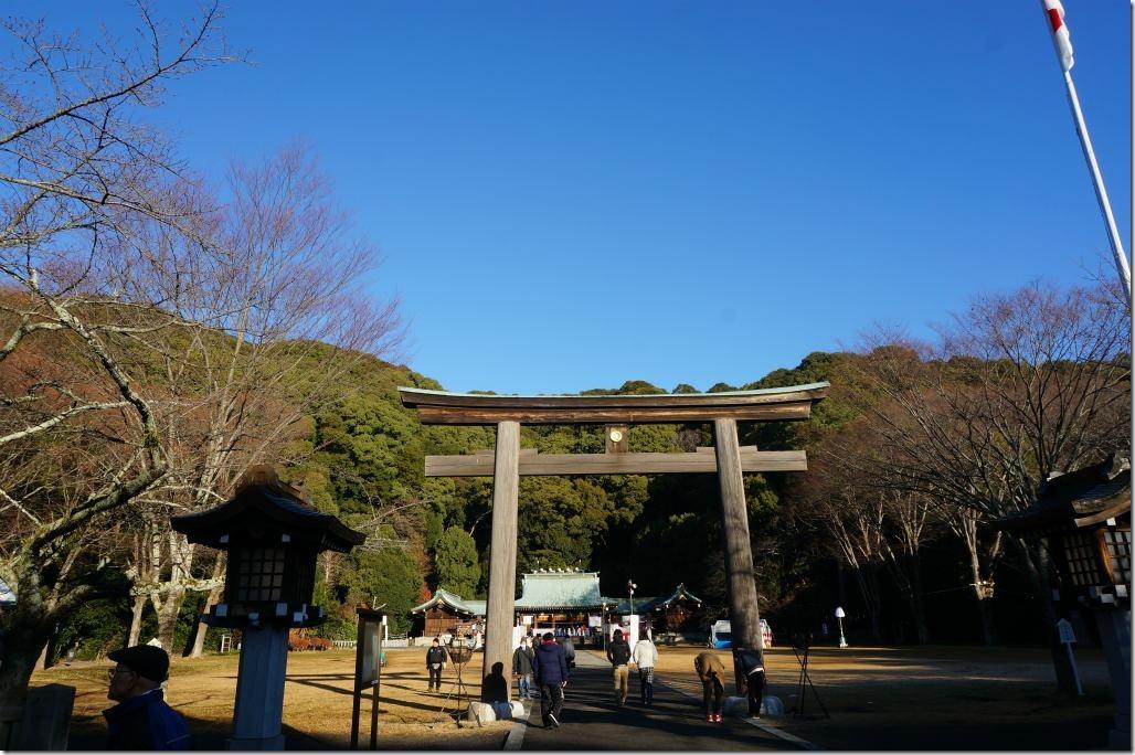 2018年 初日の出 靜岡縣護國神社 初詣 駐車場 富士山