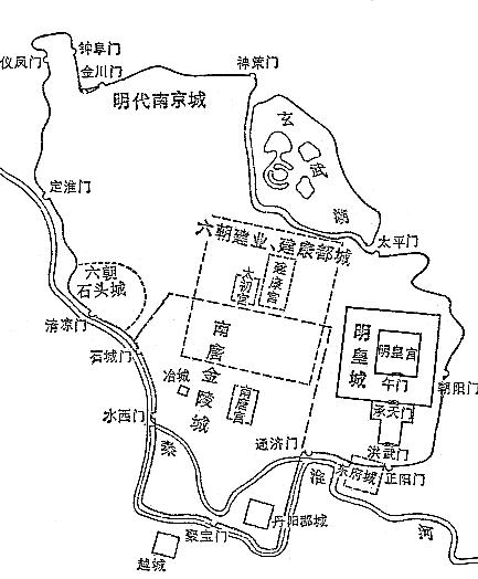 南唐 金陵城 南京 位置図02