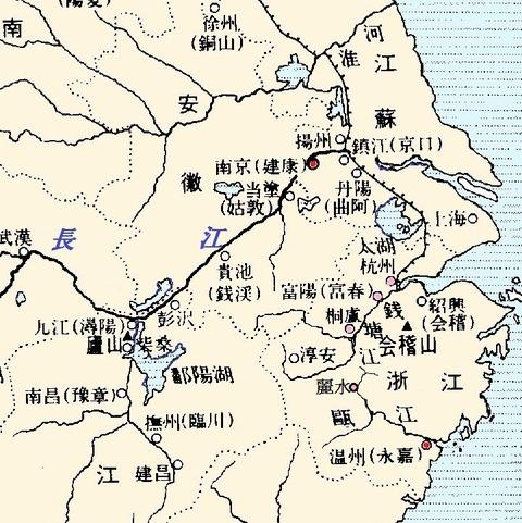 呉、江南地方図 六朝期