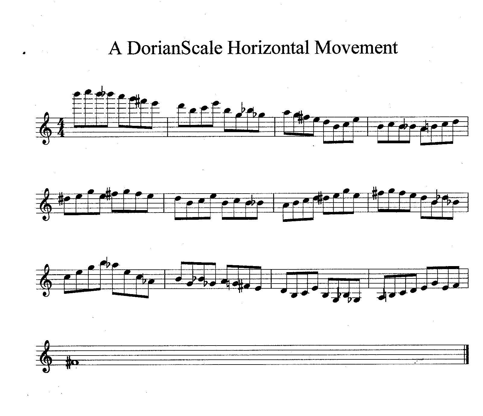 A DorianScale Horizontal Movement