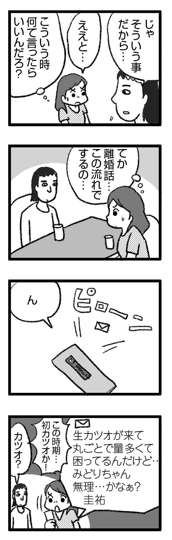533_カツオ1 結婚 交渉 没 レス セックスレス 告白 離婚 母 親 意見 相談 ネット まんが 漫画 マンガ 性 スキンシップ スキン 肌 れす なし まんが 漫画 マンガ