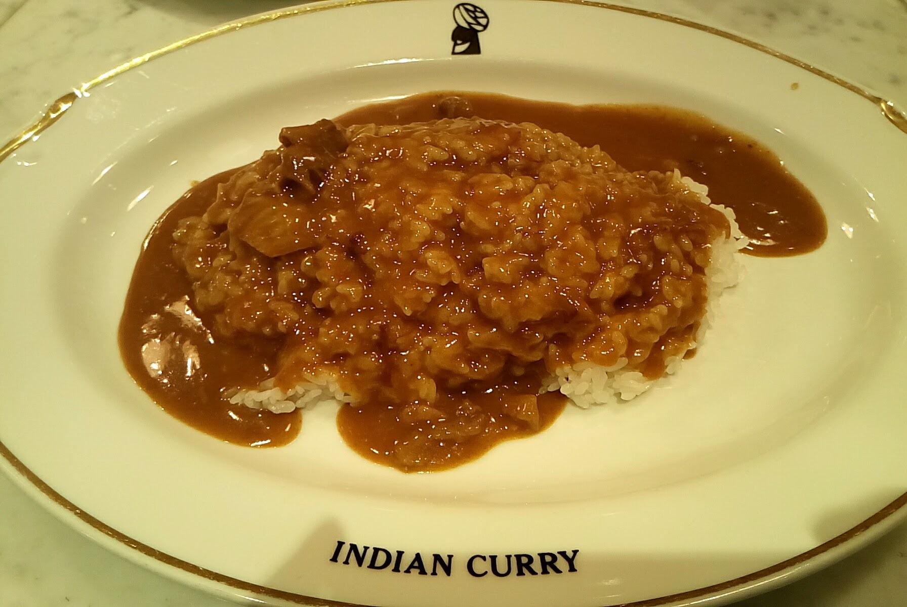 ここのカレー久々に食べてみた インデアンカレー