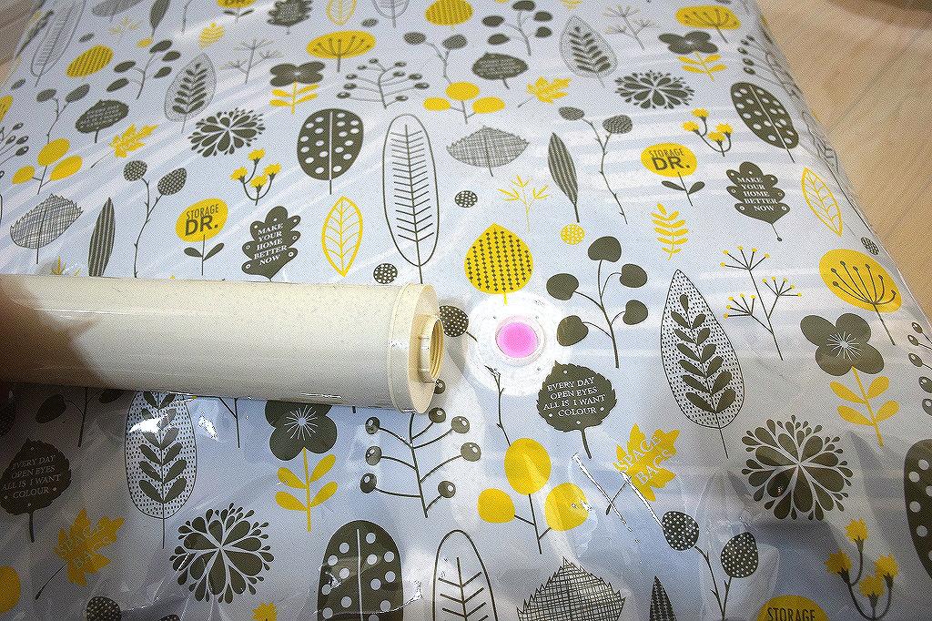 手動ポンプ付きの圧縮袋で寝袋の収納が簡単に4