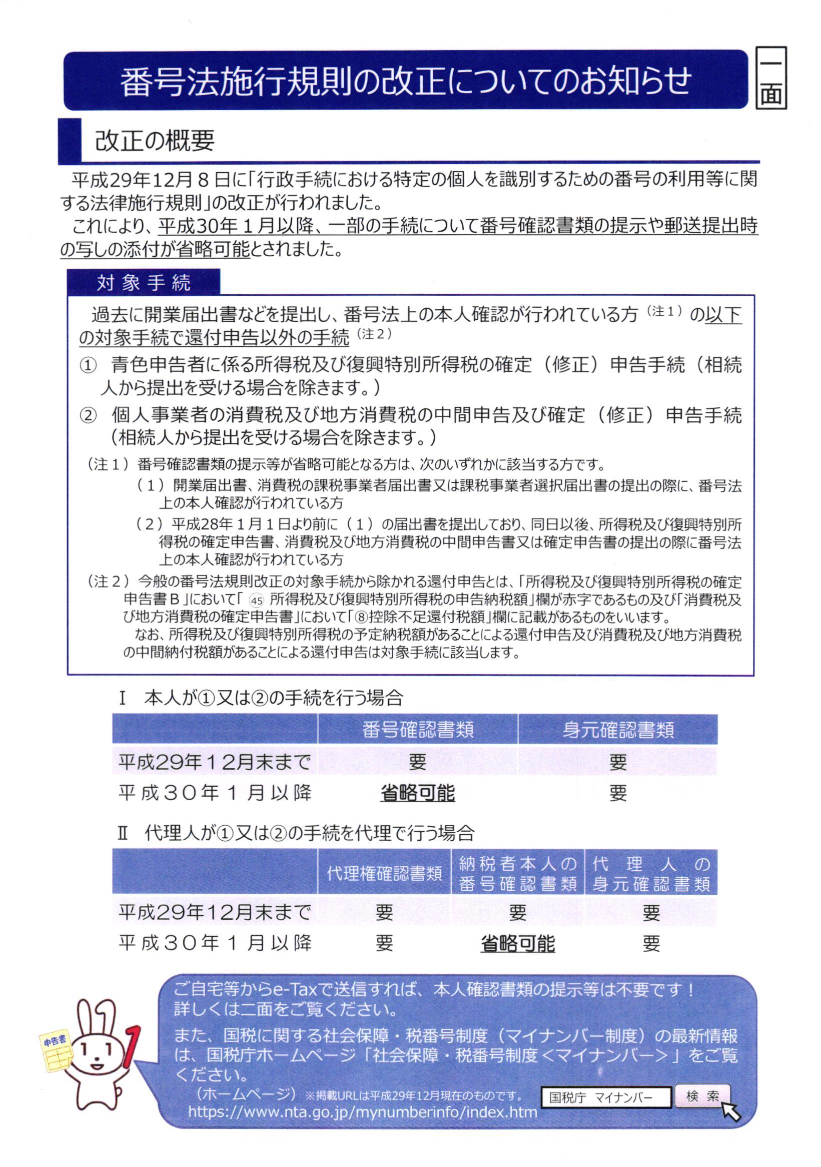 番号法施行規則改正2017年12月14日12時00分09秒