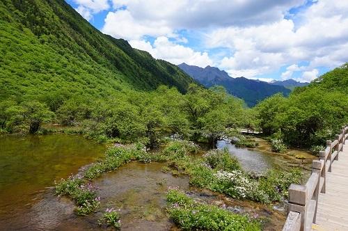 自然系九寨溝と黄龍 (1)