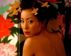 菅野美穂(女優濡れ場)映画「さくらん」での濃厚キスシーンからの騎乗位セックス映像
