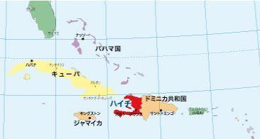 ハイチの地図