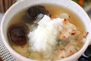 大根と鶏肉のふんわり雑炊