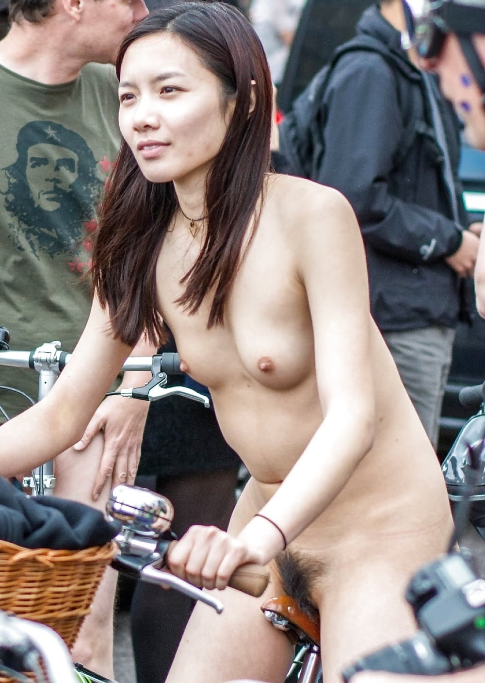 Asian topless in public looking really gorgeous