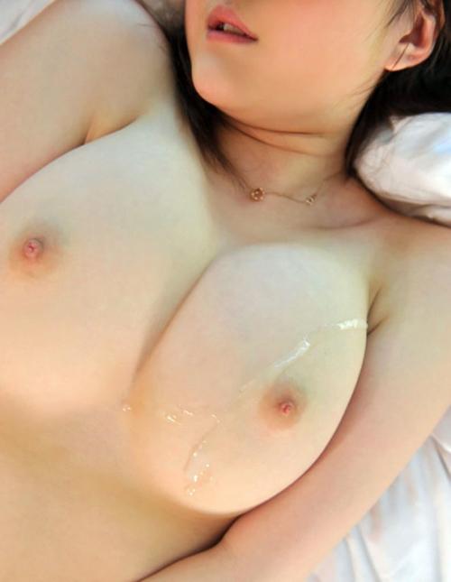ベッチョリついた乳射のエロ画像 part6