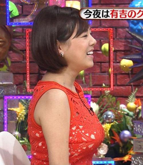 【巨乳】高橋真麻(36)おっぱいがかなりデカかった