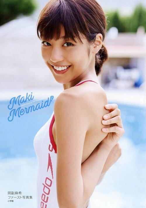 めざましの女神、岡副麻希アナの水着グラビア!