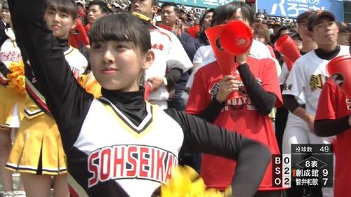 【画像あり】「高校野球2018春」甲子園の美人チアガール達…野球を見ずに抜いたったwww