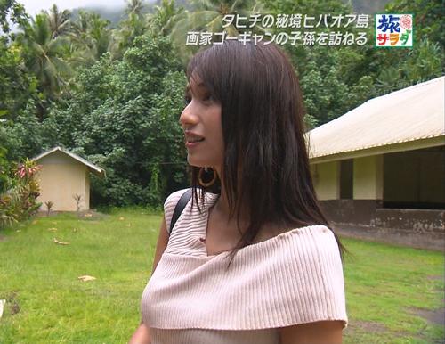 【テレビキャプエロ画像】『旅サラダ』広瀬末花(29)の着衣巨乳が過激すぎて堪らないwww