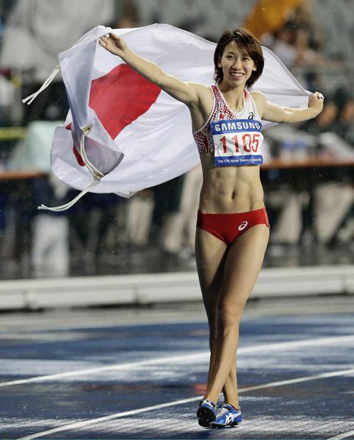 女子陸上選手の引き締まった美しい腹筋 画像20枚