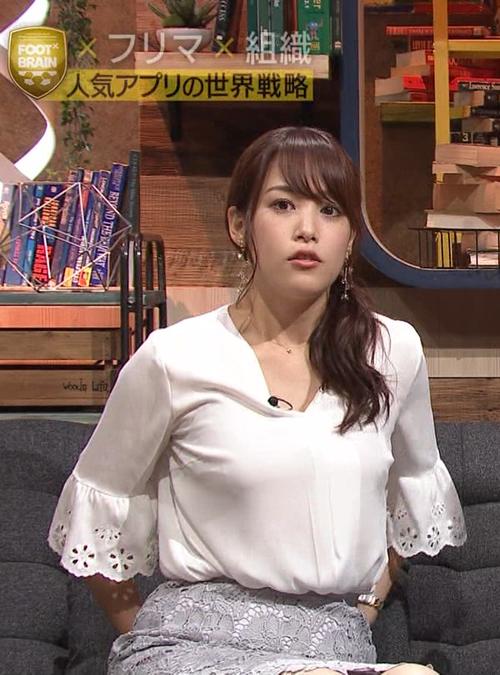 【放送事故】鷲見玲奈アナ、おっぱい張り過ぎてブラ透けてる…2ch「でかい!」「最近、垂れてきた?」