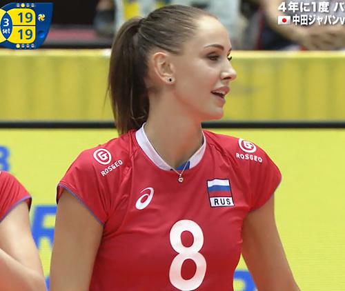 「グラチャンバレー」日本を応援しつつも、つい目が行っちゃうロシア、ブラジル巨乳選手の乳首ポチwww