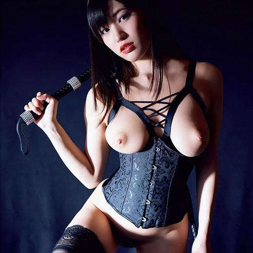 高橋しょう子 「ひとりSM」珍しいボンデージ姿での妖艶ヌードグラビア #エロ画像