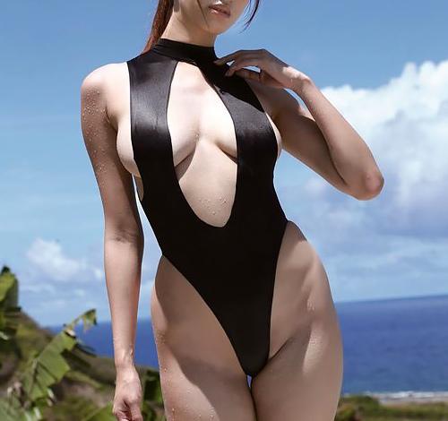 ハイレグ ハミマンしそうな水着で男を魅了するエロ画像 100枚