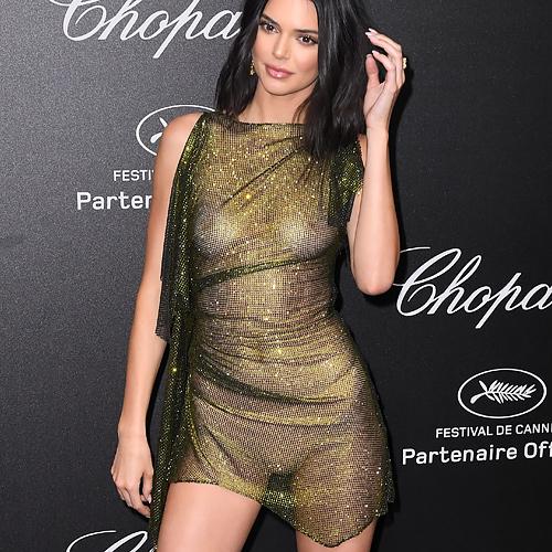 人気ファッションモデルのケンダル・ジェンナーがカンヌ国際映画祭で、スケスケのドレスを着て登場して、乳首がちょっと見えちゃってるwww