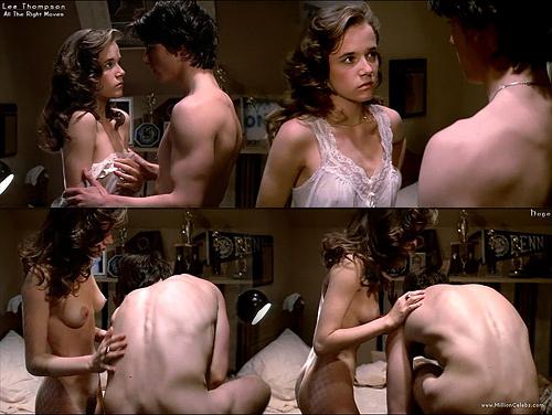 『バック・トゥ・ザ・フューチャー』で主人公の母親役だった女優、リー・トンプソンのヌードシーンのセクシーGIFwww