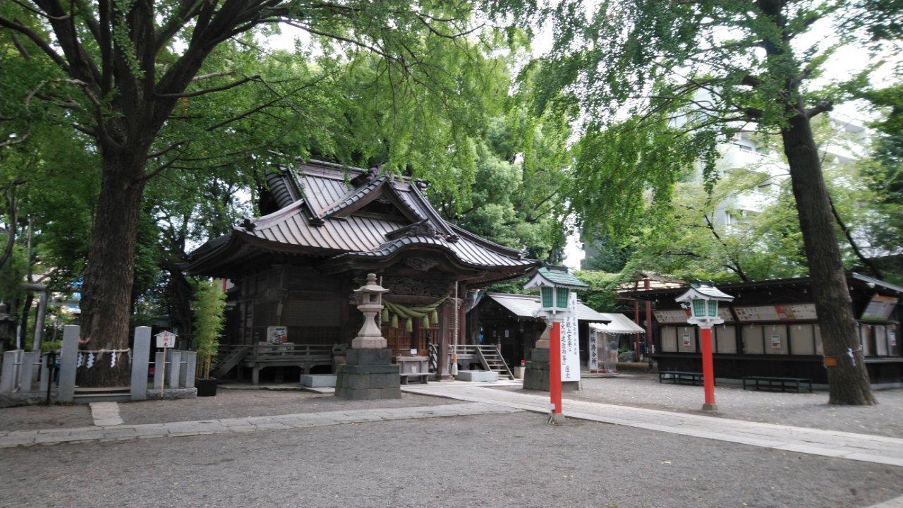 朝の田無神社20180901