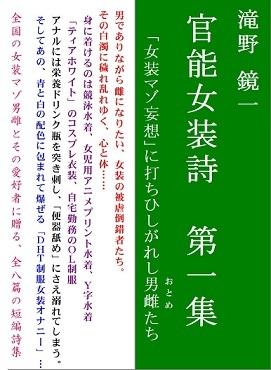 表紙:『官能女装詩第一集』 ブログ用