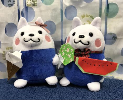 【ピクシーくん画像】 スイカとうちわ