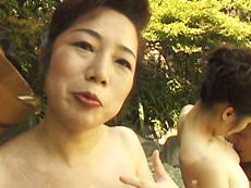 裏・桃太郎の弟子 :【無修正】波純子  露天付き旅館で熟女と3P