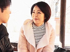 高齢人妻熟女動画 あっふ〜ん :五十路母と息子の肉欲SEX!高齢熟女母のパイパンマ○コに挿入! 藍川京子