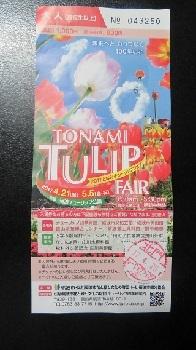 2017 4 25 2017 TONAMI TULIP フェァ 入場券