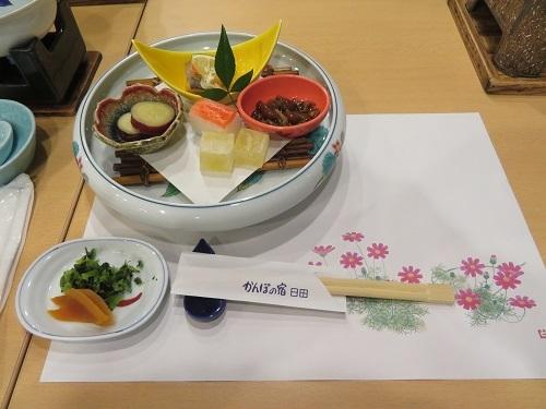 2019 10 18  かんぽの宿日田 (夕ご飯)