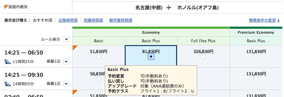 アップグレードポイント_名古屋ホノルル_BasicPlus
